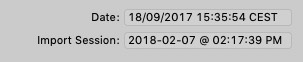 Aperture date formats